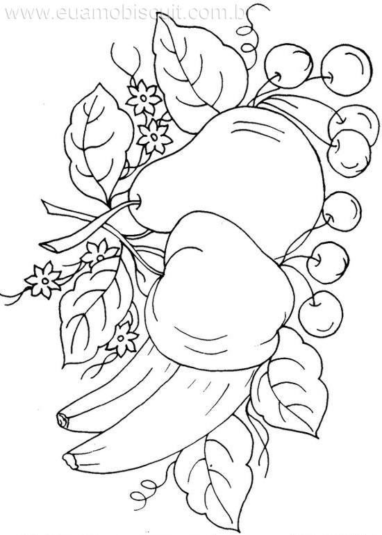 Dibujos de flores y frutas para pintar en tela buscar con google dibujos pinterest - Dibujos para pintar en tela ...